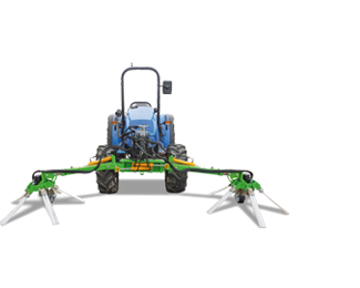 Rotary sweeper for between rows